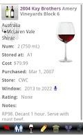 Screenshot of Wine Tracker