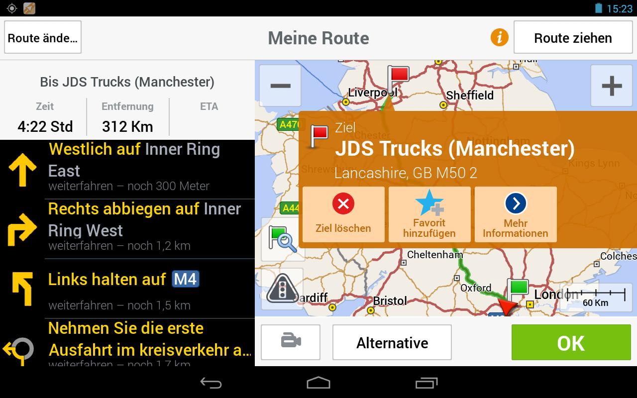 CoPilot Truck DACH - LKW Navi – Screenshot
