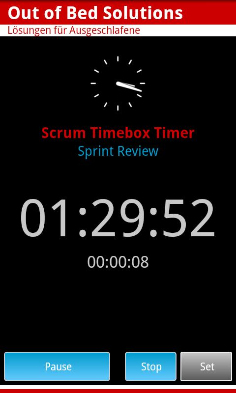 Scrum Timebox Timer - screenshot