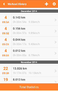 Everywhere Sport Run GPS Track - screenshot thumbnail