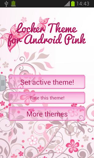 Androidのピンクのためのロッカーのテーマ