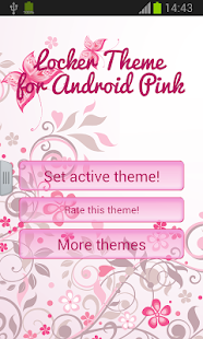 儲物櫃主題為Android粉紅