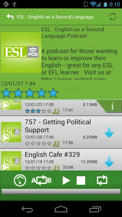 EnglishPodcast for Learners - screenshot