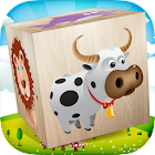 Animals Blocks Puzzle for kids icon