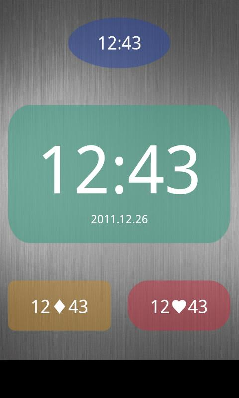 Nice Simple Clock (Widget) - screenshot