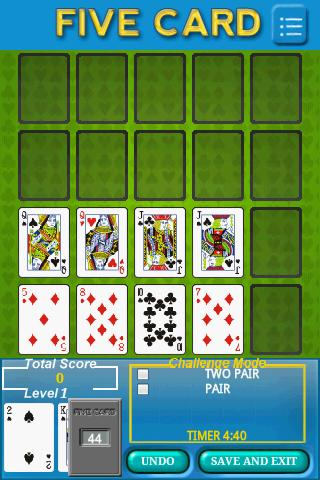 Five Card - screenshot