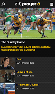 RTÉ Player - screenshot thumbnail