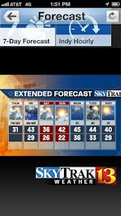 WTHR SkyTrak Weather - screenshot thumbnail