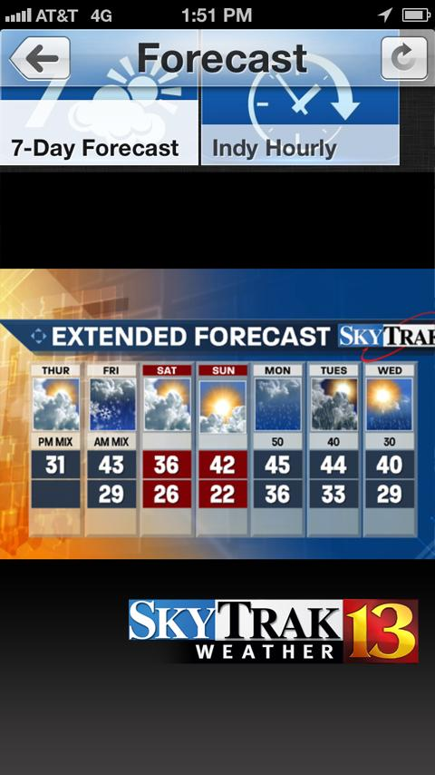 WTHR SkyTrak Weather - screenshot