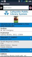 Screenshot of Lafayette Public Library