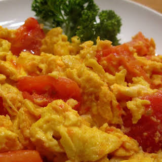 Scrambled Eggs with Tomatoes..