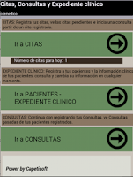 Screenshot of Citas y Expediente clínico