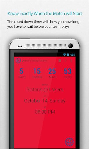 Detroit Basketball Alarm Pro