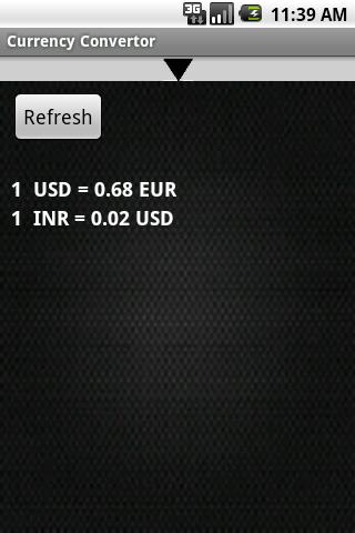Currency Convertor - screenshot