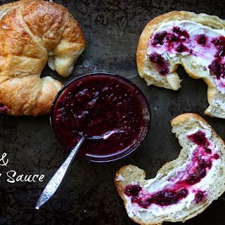 Croissants with Blackberry Sauce.