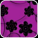 Floral Print Purple Theme icon