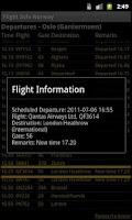 Screenshot of Flight Info Norway