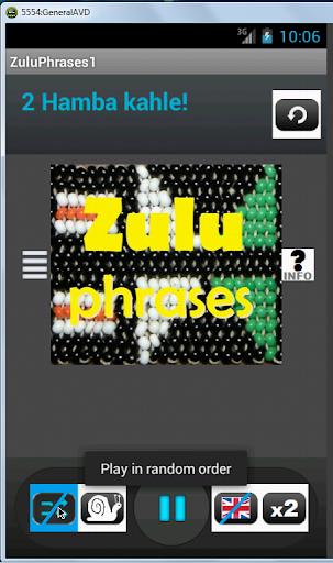 Zulu Phrases language tutor