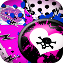 pink graffiti skull wallpaper icon