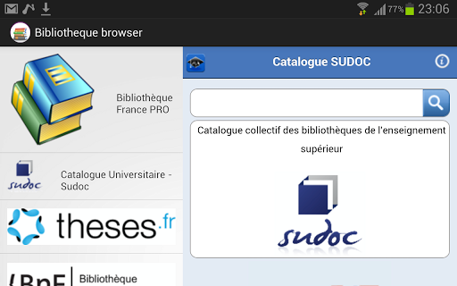 eLibrary Browser