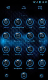 Go Launcher EX Dark Blue Theme - screenshot thumbnail
