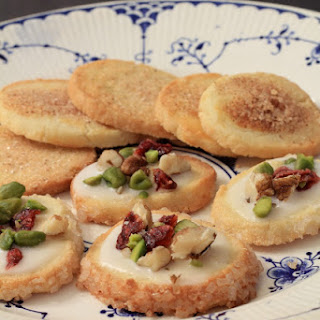 Jødekager and Sukkerkager (Danish shortbread cookies)