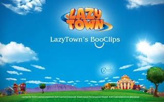 Screenshot of LazyTown's Sportafake BooClip