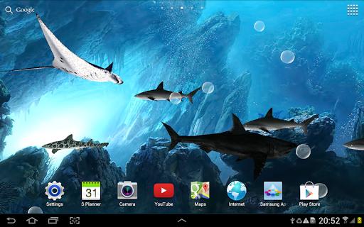 玩個人化App|3D Sharks Live Wallpaper免費|APP試玩
