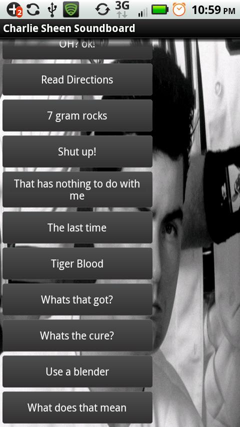 Charlie Sheen Soundboard - screenshot