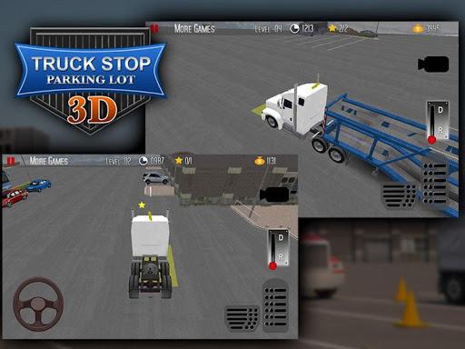 卡车停止停车场3D