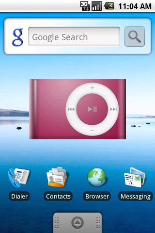 DroidPod Shuffle Red - screenshot