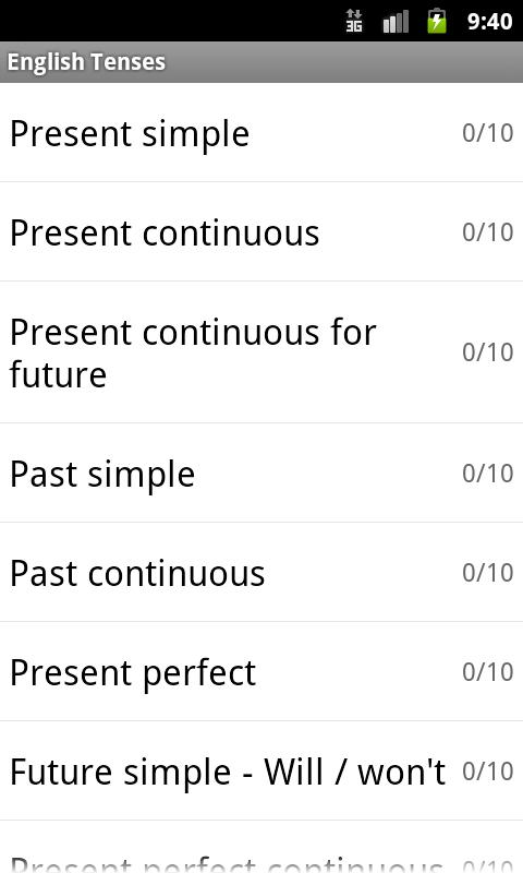 English tenses android apps on google play english tenses screenshot ccuart Image collections
