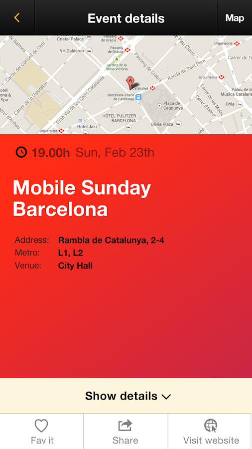 MWC Party guide 2014 - screenshot