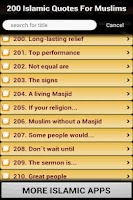 Screenshot of 200 Islamic Quotes For Muslims