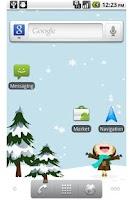 Screenshot of Snowing Live Wallpaper