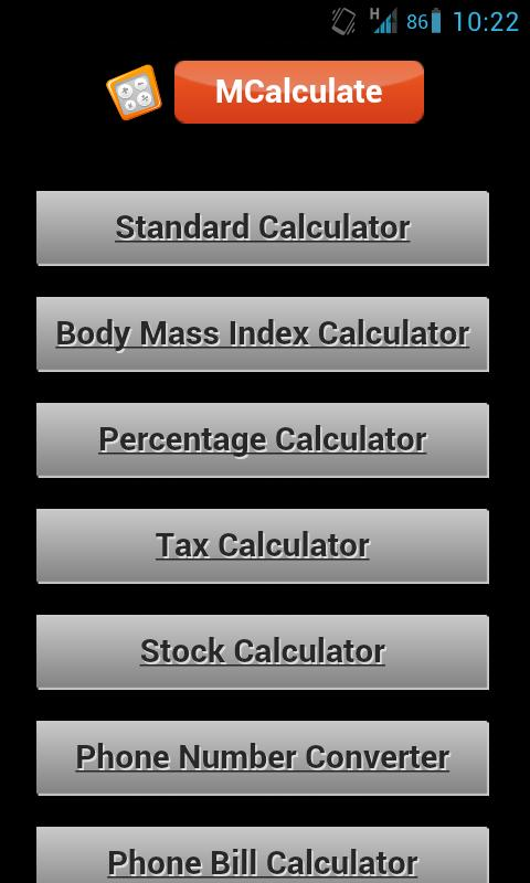 All in 1 Calculator - screenshot