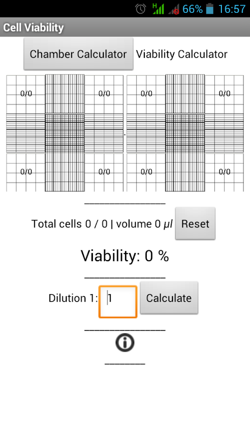 Cells Calculator - screenshot