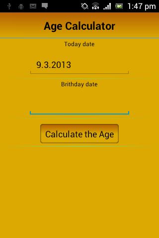 Age Calculate