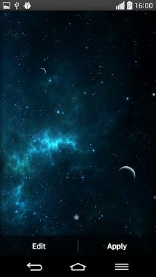 Galaxy Space Live Wallpaper - screenshot
