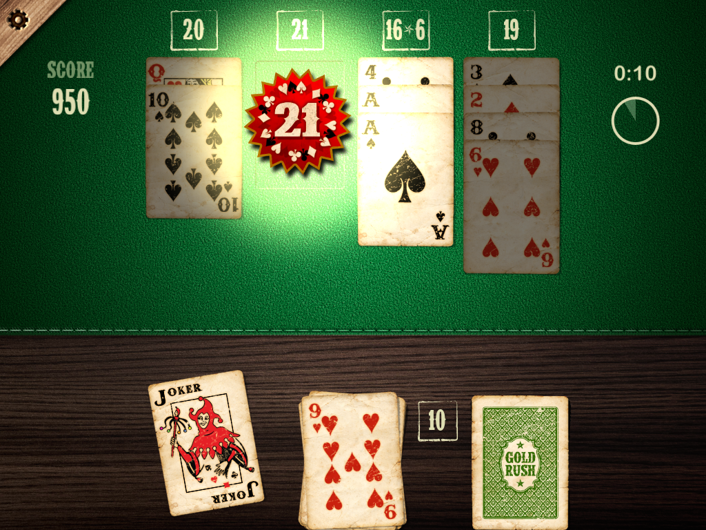 Blackjack Solitaire- screenshot