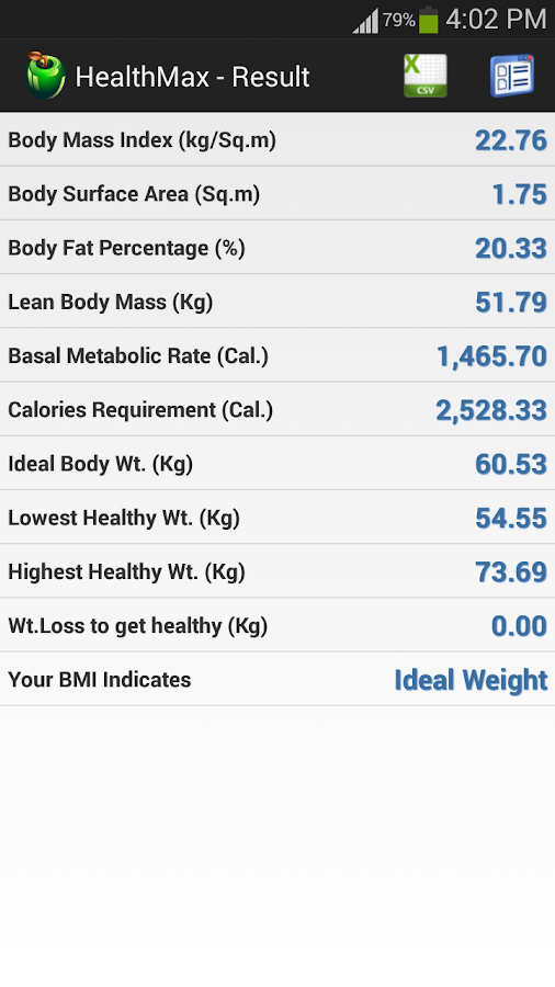HealthMax - Health Calculator- screenshot