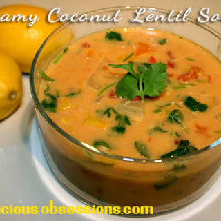 Coconut Lentil Soup (from Delicious Obsessions)