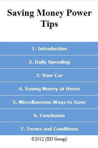 Saving Money Tips
