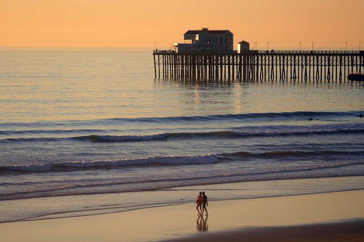 A couple at Oceanside Pier near San Diego.