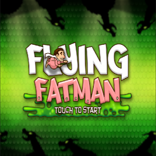 Flying Fat Man Floppy Bird