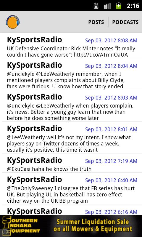 Kentucky Sports Radio (KSR) - screenshot