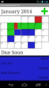 Homework Tracker- screenshot thumbnail
