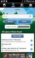 Screenshot of iFish Alberta