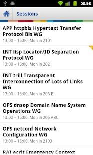 IETF Agenda- screenshot thumbnail