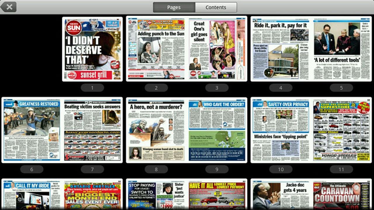 Toronto Sun e-edition- screenshot